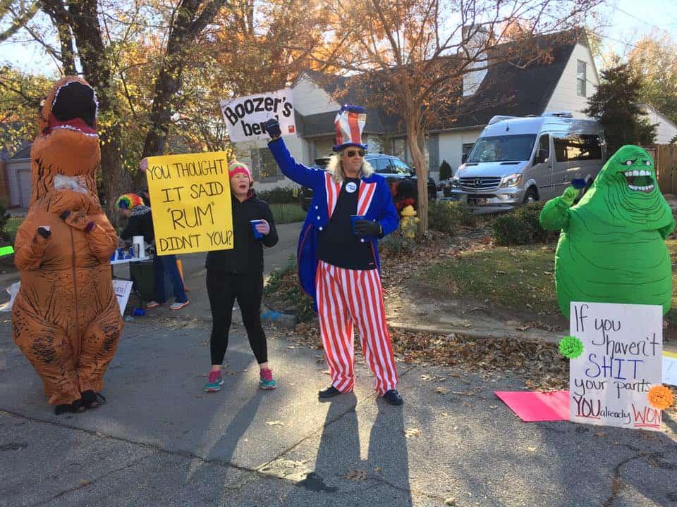 Block party Route 66 Marathon in Tulsa