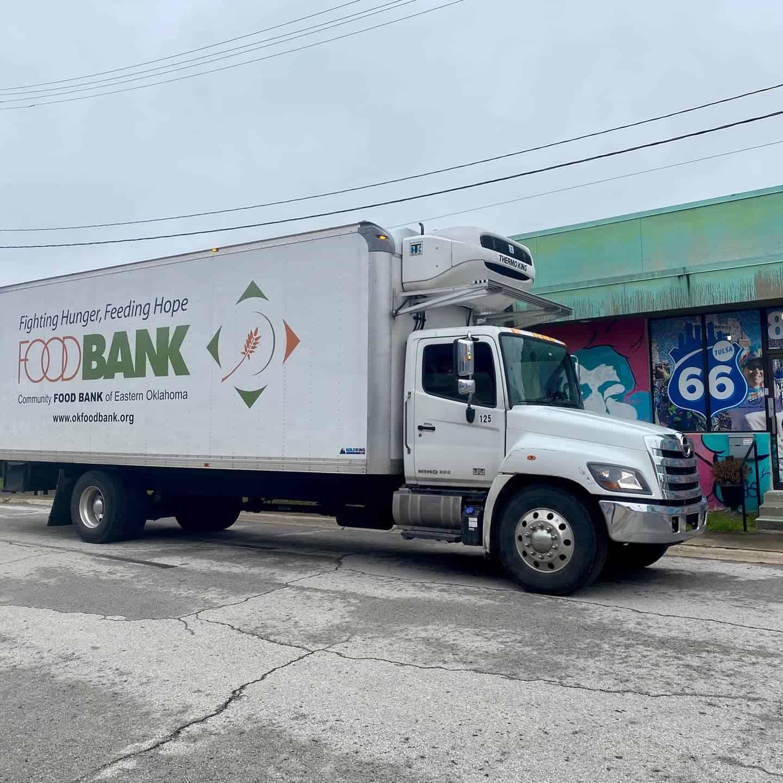 route 66 marathon donates to oklahoma food bank