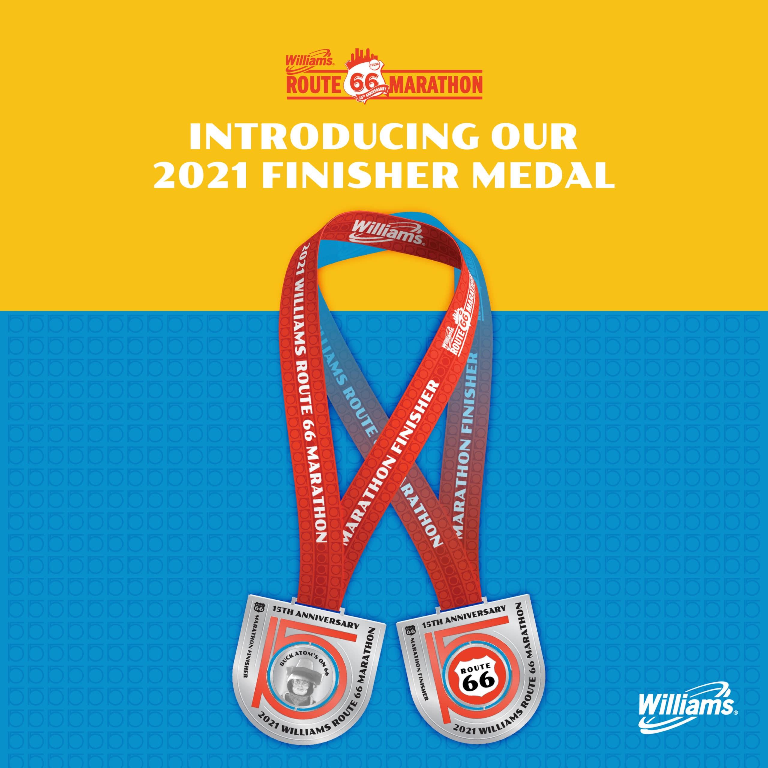 R66 Marathon Medal Reveal Social